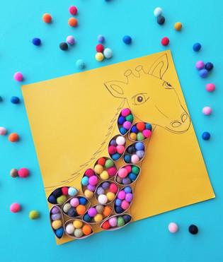 Paper Roll Giraffe