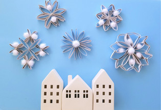 Paper Roll Snowflakes