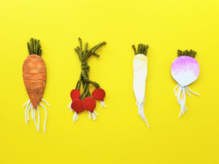 Cardboard Root Vegetables