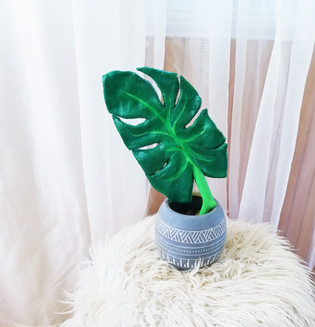Salt Dough Monstera Plant