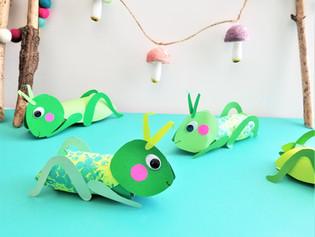 Bubble Wrap Grasshoppers