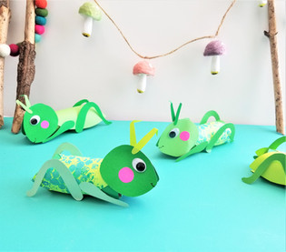 Bubble Wrap Grasshoppers