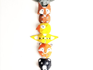 Egg Carton Totem Pole