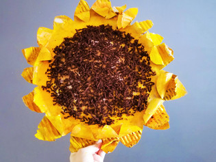 Cardboard Sunflowers