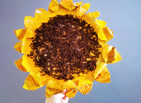 Cardboard Sunflowers