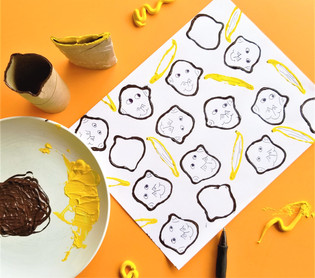 Paper Roll Monkeys and Bananas