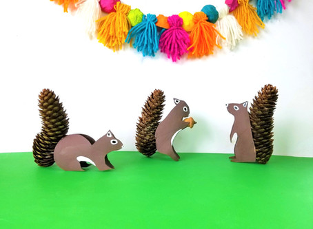Paper Roll and Pinecone Squirrels