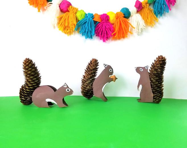 Paper Roll Squirrels