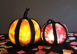 Stained Glass Pumpkins