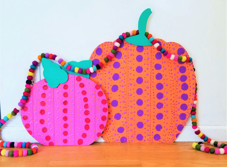 Kusama Inspired Pumpkins