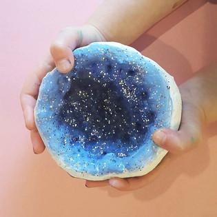 Salt Dough Geodes