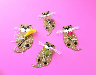 Cardboard Otters