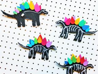 Rainbow Stegosaurus Chalkboard