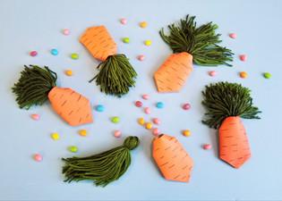 Paper Roll Carrots