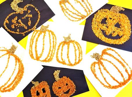Lentil Pumpkin Art