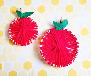 Embroidery Hoop Apples