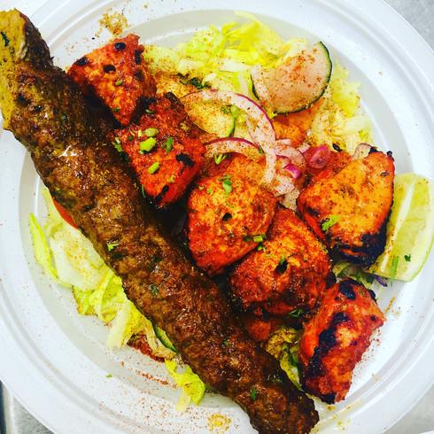 Seekh Kabab and Tikka