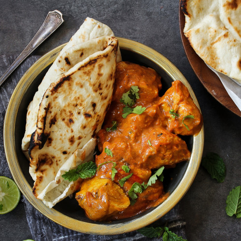 Naan with Butter Chicken