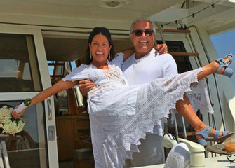 Honeymoon Cruise! Couple boards the Duchess following nuptials for a special celebration.