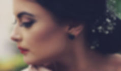 Model wearing Bloom Round Earrings