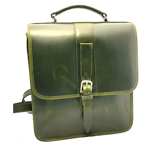 Briefcase Style Leather Backpack Single