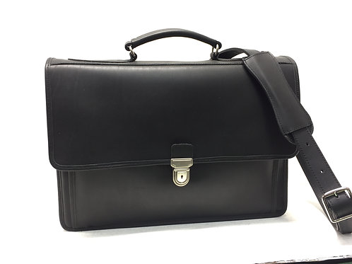 Briefcase Single Compartment Matte Black