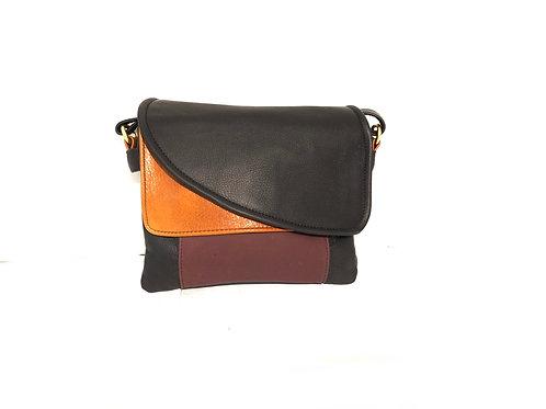 Style #113 - Tulip Jr. Multi-Tone Leather Crossbody Bag