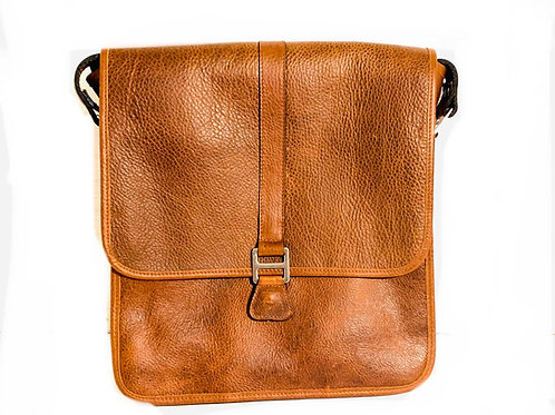 Vertical Messenger Leather Crossbody Bag