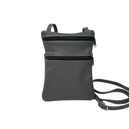 Small Double Zipper Crossbody Bag