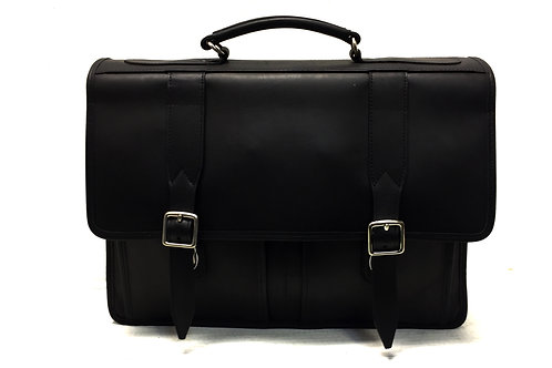 Briefcase Double Compartment Matte Black