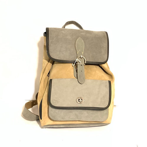 Style Backpack Medium Coyote Leather (Water Resitant)