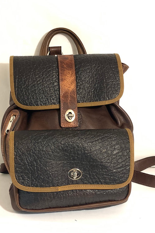 Style Backpack Medium Chocolate/Elephant Embossed