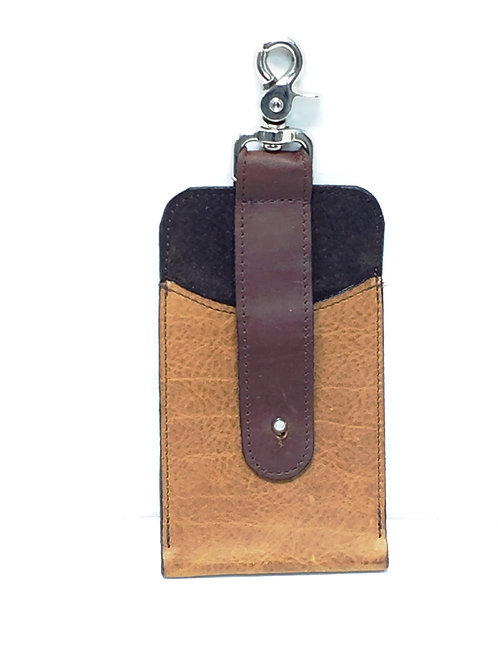 Large Cell Phone Style Leather Carrying Case