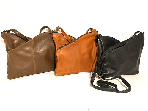 Style #122 Twins - Leather Crossbody Bag