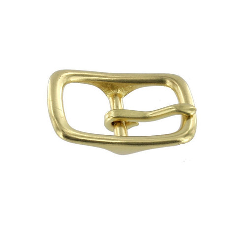 "3/4"" Natural Brass, Center Bar Buckle, Solid Brass"