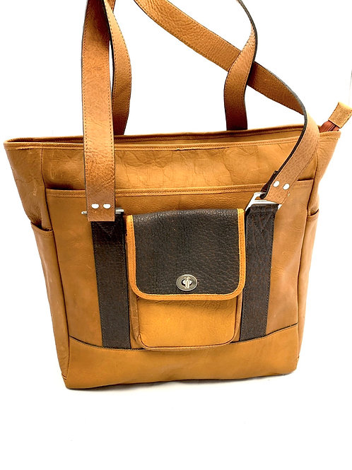Style Full Size Leather Travel Tote