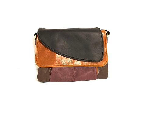 Style #112 Tulip - Multi Tone Leather Crossbody Bag
