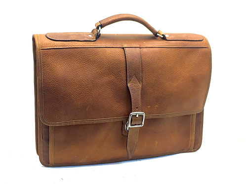 Briefcase Leather Crossbody Single 14""