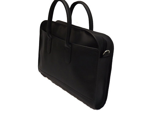 Two Handle Laptop Briefcase Black