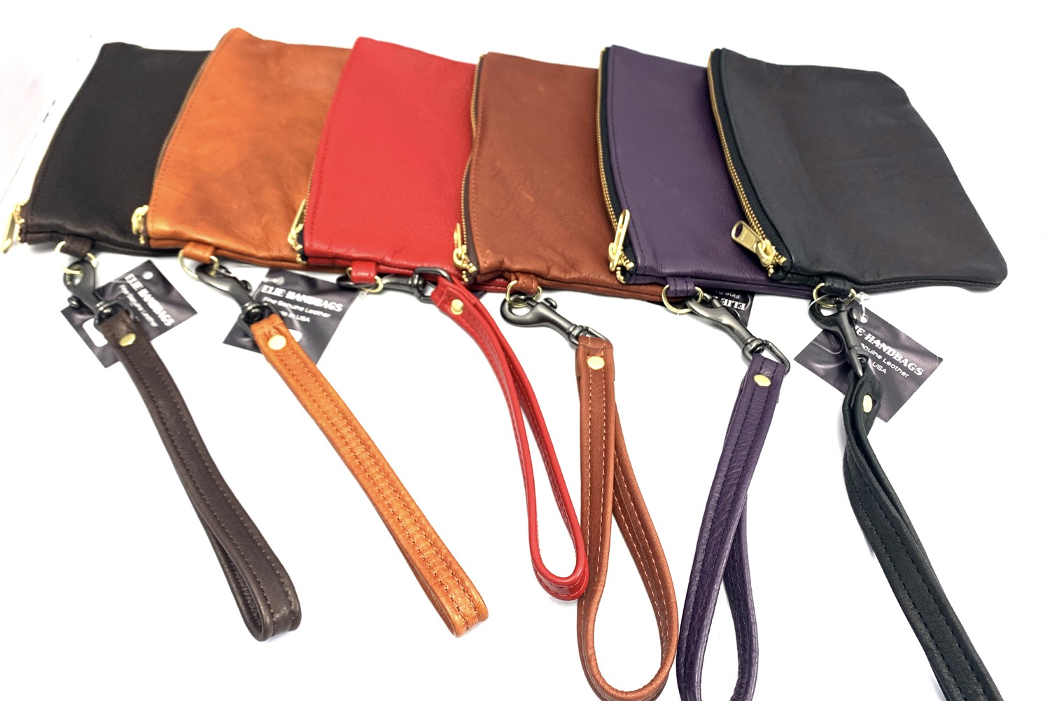 Wristlet Style Leather Pouch