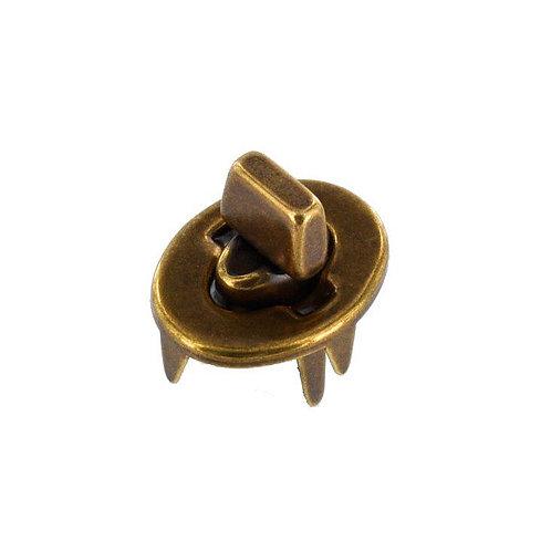 Antique Brass, Turn Lock, Solid Brass (four piece set)