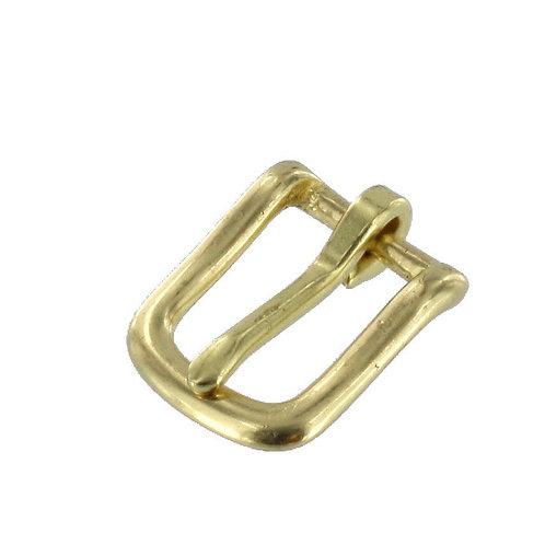 """3/4"""" Natural Brass, Heel Bar Buckle, Solid Brass"""