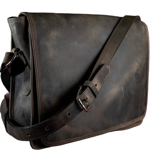 Messenger Style Leather Crossbody Bag