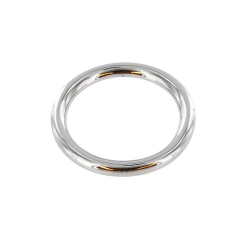 """1 1/2"""" Nickel Plate, O Ring, Solid Brass"""