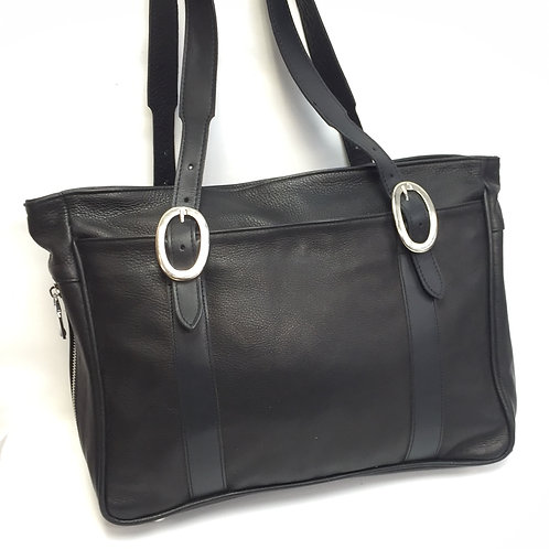 Style #126 Vertical Tote Black