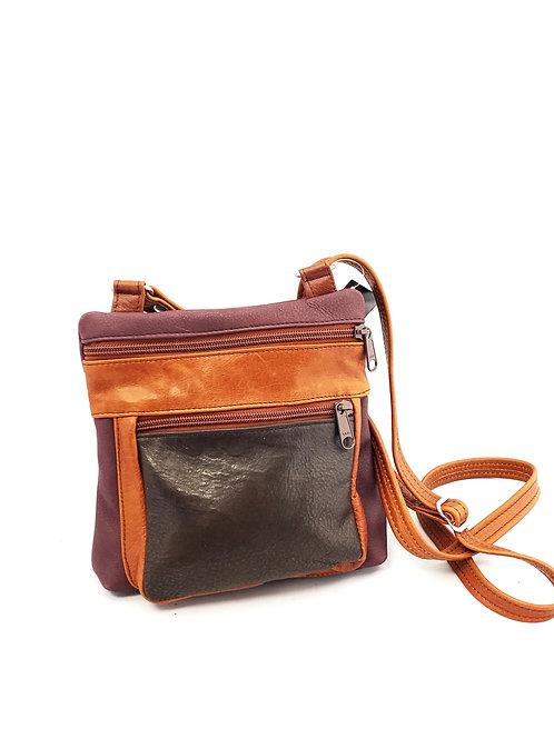 Style #120 Multi tone Leather Crossbody Bag