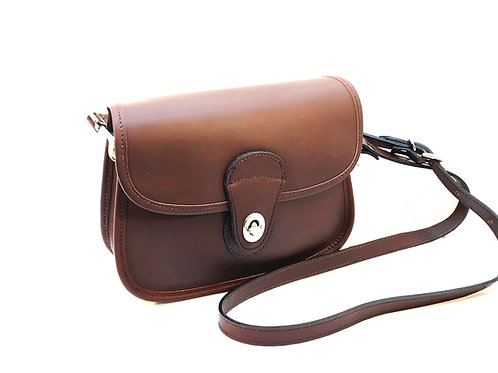 Style #121 Leather Crossbody Saddle Bag