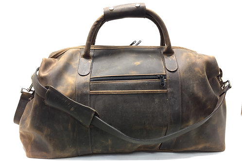 Carry-On Duffle Distressed Leather Crazy Horse