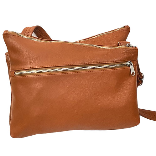 Style #144 Kriss Kross Leather Crossbody Bag