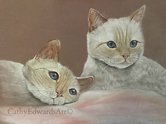 Flame Point Siamese Kittens by Cathy Edwards